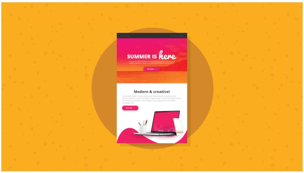 summer is here email newsletter templates
