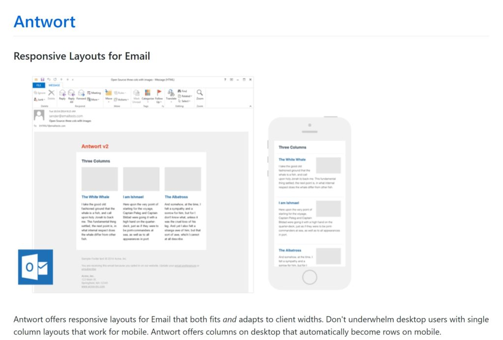 example email newsletter templates from github
