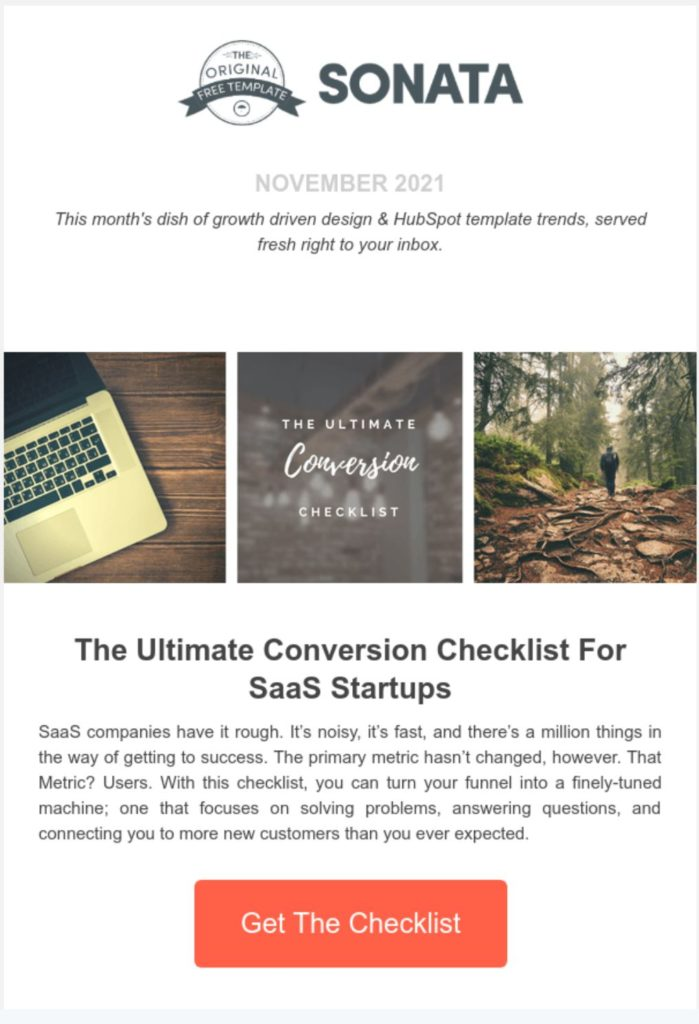 Sonata email newsletter template